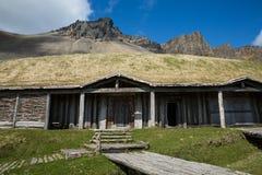 Replik Viking Long-House Lizenzfreies Stockbild
