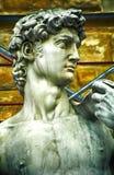 Replik von David von Michelangelo, Firenze, Italien stockfotos