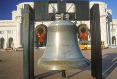 Replik von Liberty Bell, Weihnachtszeit, Verbands-Station, Washington, D C stockfoto