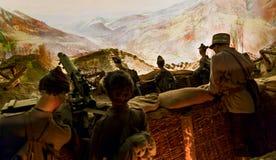 Replik von Soldaten des Ersten Weltkrieges stockbild