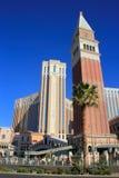 Replik von St. Mark Campanile, venetianisches Urlaubshotel und Kasino, stockbilder