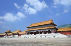 Replik von Verbotener Stadt Hengdian, China lizenzfreie stockfotos