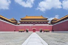 Replik von Verbotener Stadt mit Gehweg, Hengdian, China stockfotografie