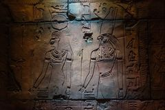Replika Egipscy Świątynni cyzelowania Zdjęcia Royalty Free