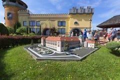 Replika Lancut kasztel Polska, miniatura park, Inwald, Polska obraz stock