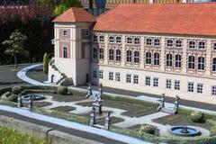 Replika Lancut kasztel Polska, miniatura park Inwald, Polska obrazy royalty free