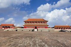 Replika Niedozwolony miasto pawilon, Hengdian, Chiny zdjęcie royalty free