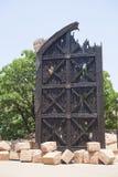 Replika stara brama w słońca mieście, Południowa Afryka Zdjęcie Stock