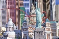 Replika statua wolności na zewnątrz Nowy Jork, Nowy Jork hotelu i kasyna, Las Vegas, NV Zdjęcie Stock