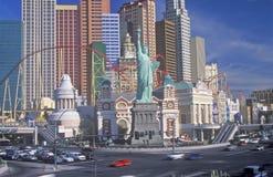 Replika statua wolności na zewnątrz Nowy Jork, Nowy Jork hotelu i kasyna, Las Vegas, NV Zdjęcia Royalty Free
