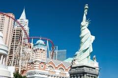 Replika statua wolności w Nowy nowy Jork na Lesie Zdjęcia Stock
