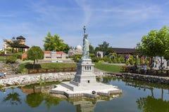 Replika statua wolności Nowy Jork, Stany Zjednoczone, miniatura park, Inwald, Polska Obrazy Stock