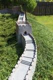 Replika wielki mur Chiny, miniatura park, Inwald, Polska Zdjęcia Stock