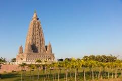 Repliki miejsce dokąd Gautam Buddha dosięgał enlightenment obraz royalty free