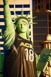 Repliki statua wolności na zewnątrz Nowy Jork Nowy Jork kasyna kurortu hotelu i zdjęcia stock