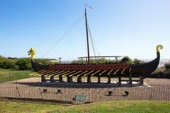 Repliki Viking statku Pegwell zatoka Obrazy Royalty Free