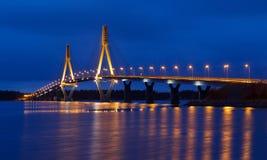 The Replot Bridge. The Replot (Raippaluoto) bridge is the longest bridge in Finland royalty free stock photos
