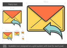 Reply line icon. Stock Image