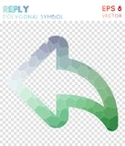 Reply outline polygonal symbol. Awesome mosaic style symbol. classic low poly style. Modern design. reply outline icon for infographics or presentation Royalty Free Stock Photography