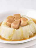 Repolho chinês com scallops Foto de Stock Royalty Free