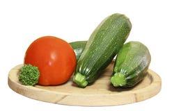 Repolho de uns bróculos e de umas determinadas espécies de abóbora vegetais em um w Fotografia de Stock Royalty Free