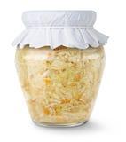 Repolho psto de conserva (sauerkraut) imagens de stock
