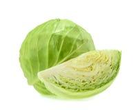 Repolho verde isolado no fundo branco Foto de Stock