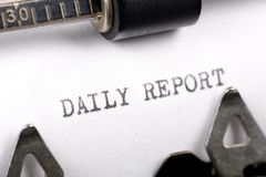 Daily Report royalty free stock photography