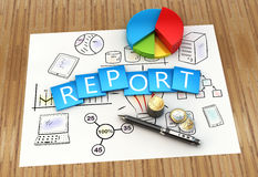 Report as concept Royalty Free Stock Image
