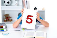 The report card is not good Royalty Free Stock Photography