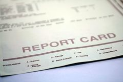 Report Card for Student or Teacher Stock Photography