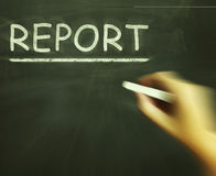 Report Chalk Means Research Summary And Presenting Findings Royalty Free Stock Images