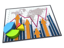 Report charts. Business charts and graphs as concept Royalty Free Stock Photo