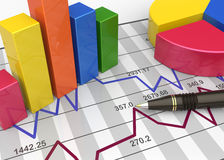 Report charts. Business charts and graphs as concept Royalty Free Stock Photography