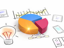 Report charts. Business charts and graphs as concept Royalty Free Stock Photos