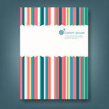 Report and cover book template Royalty Free Stock Photography