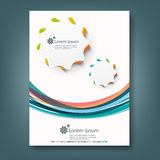 Report and cover book template Stock Images