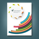Report and cover book template Royalty Free Stock Photo
