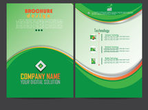 Report cover broschure design Royalty Free Stock Images