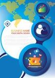 Report cover design Stock Photo