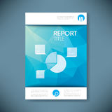 Report cover template for business presentation or Stock Photo