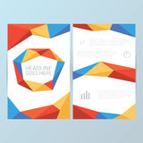 Report cover vector template. Low poly geometric. Shapes pattern. Suitable for analysis, infographics, presentations. Eps10 vector illustration stock illustration