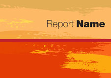 Report cover 2015. Report cover for your company 2015 Stock Images