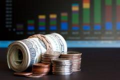 Report des jährlichen Verkaufs Stockfotos