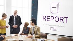 Report Digital Homescreen Concept Stock Photos