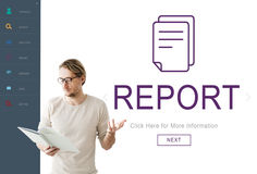 Report Digital Homescreen Concept Royalty Free Stock Image