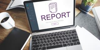 Report Digital Homescreen Graphic Concept Stock Photos