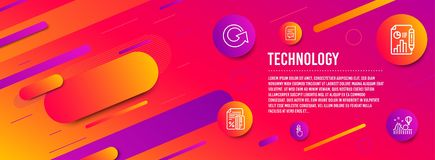Report document, Credit card and Swipe up icons set. Reload, Comments and Roller coaster signs. Vector. Header banner. Report document, Credit card and Swipe up vector illustration