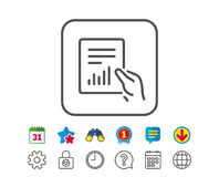 Report document line icon. Analysis Chart. Royalty Free Stock Images