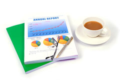 Report at the end of the year. Royalty Free Stock Photos